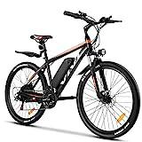 Vivi E Bike Mountainbike Ebike Herren 26 Zoll Elektrofahrrad Elektrisches Fahrrad mit 36V 10.4 Lithium-Batterie und 21 Speed (26 Zoll Gelb)