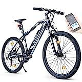 """BLUEWHEEL E-Bike 27,5"""" & 29"""" I Deutsche Qualitätsmarke   EU-konform E-Mountainbike 21 Gänge & Hinterradmotor für 25 km/h   Fahrrad mit MTB Federgabel, App, LED Licht & Sportsattel   BXB75 Ebike"""